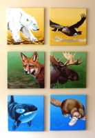 Animals All in a Row by Jc2theW