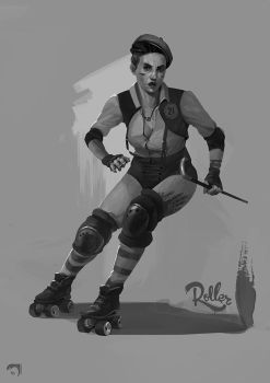 Roller-derby-girl by mltc