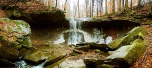 Blue Hen Falls Panorama by Project-Pestilence