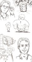 bruce banner and hulk doodle by RaveMoon