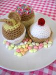 Crochet Cupcakes by kickass-peanut