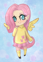 Chibi Fluttershy by lady-largo