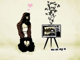 Me and my TV... by Zittertango