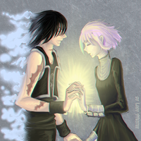 Soul Eater: Crona (Chrona) and HUMAN!-Ragnarok by LadyVVinter