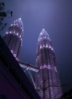 KL Twin Tower by kate-art