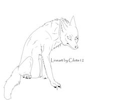 Free Wolf Lineart by Cilote12
