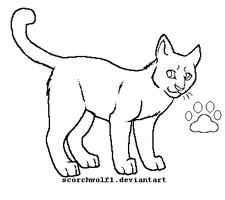 Cat Lineart by ScorchWolf1