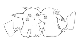 Pikachu Couple by Sperow23000