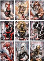 Marvel Sketch cards by Vinz-el-Tabanas