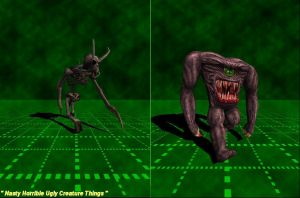 Nasty Horrible Ugly Creatures by Dannius