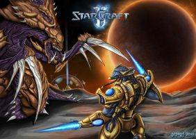 Starcraft 2 Zerg vs protoss by Departedpro