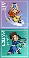 Avatar: Five Elements Chibis by Risachantag