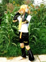 Len Kagamine cosplay. by FruityKyuubi