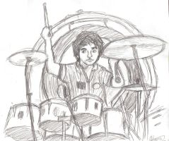 Keith Moon by little-ampharos