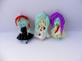 Set of 3 zombie girls by HopieNoelle