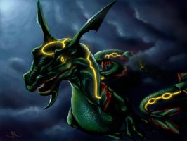 Rayquaza by Sarahlyyn