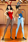 Avatar Hypno Bunnies: Asami and Korra by Jack-Inqu13