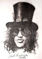 Slash in charcoal by CrimsonAnaconda