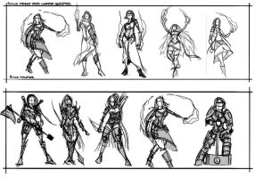 Female story character silhouettes. by Bonino