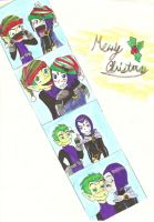 Merry Christmas Beastboy by greeenDudE