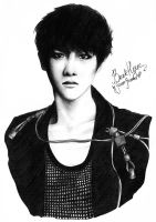Baekhyun portrait by ScouserScream