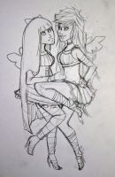 sketch: panty + stocking by daniellebritton
