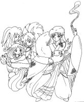 Crossbreed Divas w Sesshomaru by bluebellangel19smj