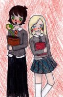 Neville and Luna by Brookiethecookieface