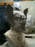 Bat Creature Mask sculpture for Specter Studios by Wormface3333