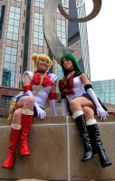 Sailor Moon and Sailor Pluto Cosplay by Malicious-Cosplay