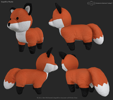 Stupidfox 3D Plushie by DRSpaceman