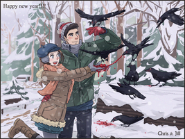 Feeding the birds by Arwencilla