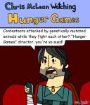 Chris McLean Watching Hunger Games by Alecomics