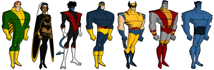 All-New, All-Different X-men (Bruce Timm style) by grego23