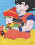 Goku and Gohan: Happy Father's Day! by Artworx88