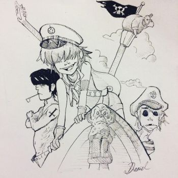 Pirate theme Gorillaz by Vii06