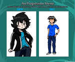 Before and After Highschool:Art progression meme by StarBoy8