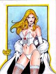 WHITE QUEEN EMMA FROST by RODEL MARTIN (07182015) by rodelsm21