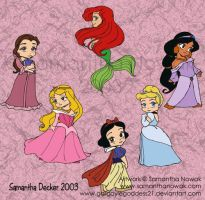 Disney Princesses by GargoyleGoddess21