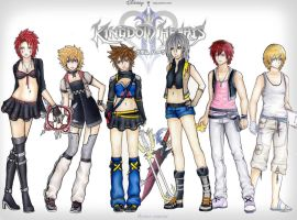 kh gender benders by Stalaxy