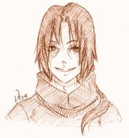 Smiling Itachi sketch by Vevericzka