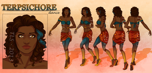 Terpsichore - Character Reference Sheet by tbdoll