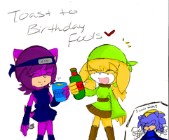 Toast to Birthday Fools by shadamy-luffer