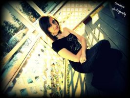 February 2012, sitting on the balcony by janielle623