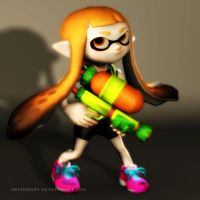 Splatoon: Inkling Girl by Irishhips