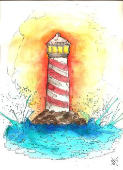 Watercolor Lighthouse. by BrandonSmith1992