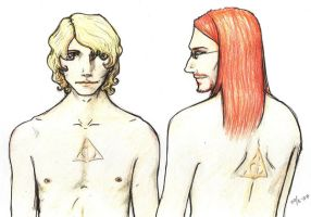 Albus and Gellert by stompe