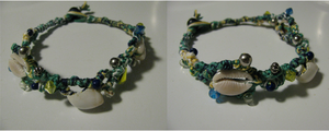 Ocean Themed Anklet by zigan-with-felines