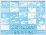22 Cloud Brushes by grenouille-enchantee