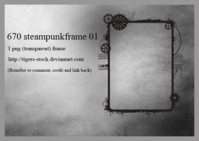 670 Steampunk Frame 01 by Tigers-stock